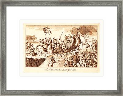 The Political Cartoon For The Year 1775, En Sanguine Framed Print by English School