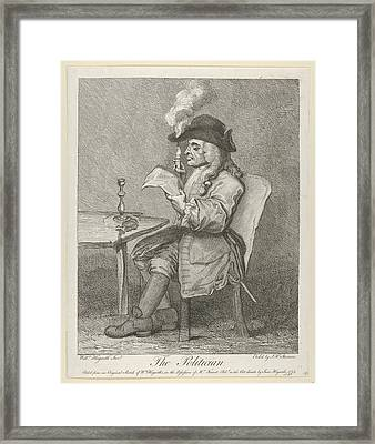The Politician Framed Print by After William Hogarth