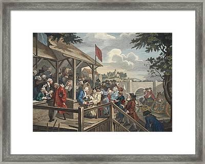 The Polling, Illustration From Hogarth Framed Print