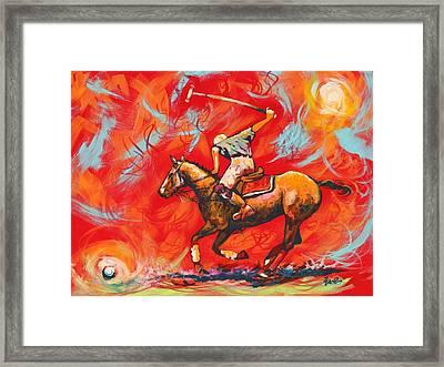 The Polo Player Framed Print by Eve  Wheeler