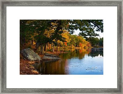 The Pond At Fisk Mill Framed Print