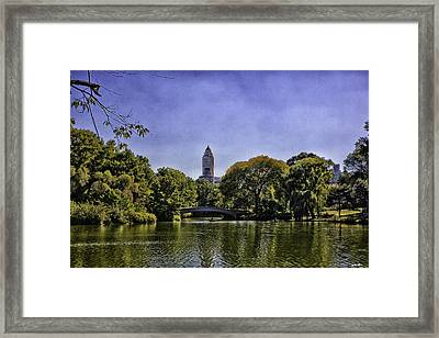 The Pond - Central Park Framed Print by Madeline Ellis