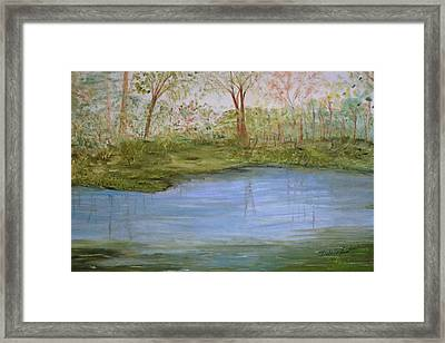 Framed Print featuring the painting The Pond by Debbie Baker