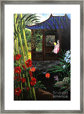 The Pond Garden Framed Print
