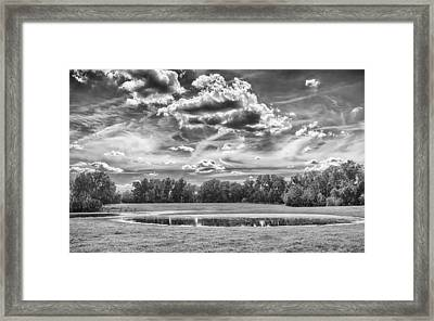 Framed Print featuring the photograph The Pond by Howard Salmon