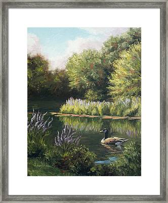 The Pond Framed Print by Lucie Bilodeau