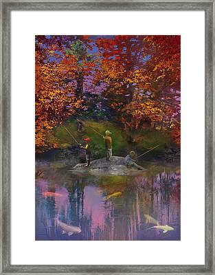 The Pond On The Eighteenth Framed Print by Robert Conway