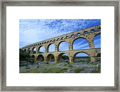 The Pont Du Gard.france Framed Print by Bernard Jaubert