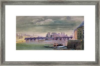 The Pont-neuf And The Ile De La Cite Framed Print