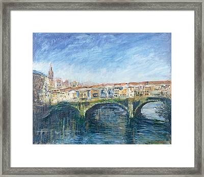 The Ponte Vecchio, Florence, 1995 Oil On Canvas Framed Print by Patricia Espir
