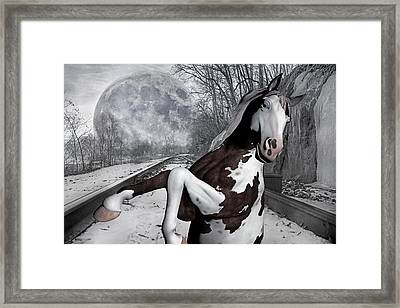The Pony Express Framed Print by Betsy Knapp
