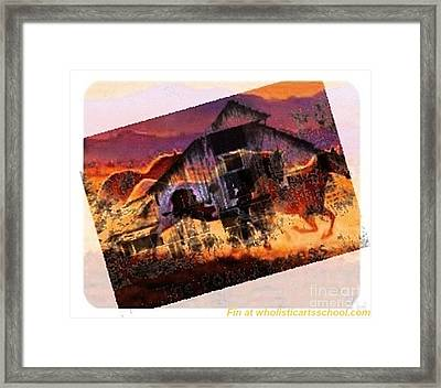 The Pony Express Framed Print