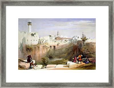 The Pool  Of Bethesda Jerusalem Framed Print