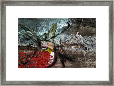 The Poor Spaghetti Bird Has  Been Tyre _d . Framed Print by Errol  Jameson
