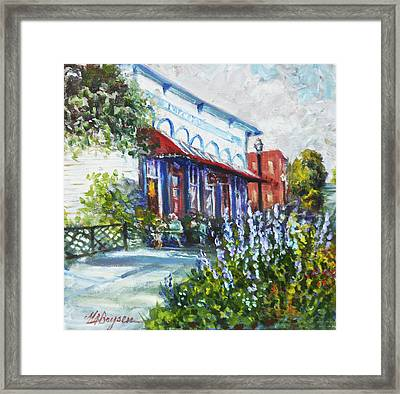The Popcorn Shop In Chagrin Falls Oh Framed Print