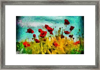 The Poppy Field Tnm Framed Print by Vincent DiNovici