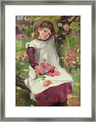 The Poppy Gatherer Framed Print