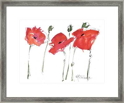The Poppy Ladies Framed Print
