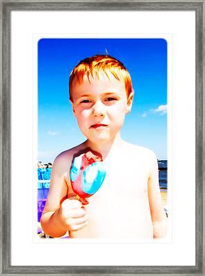 The Popsicle Framed Print by Edward Fielding
