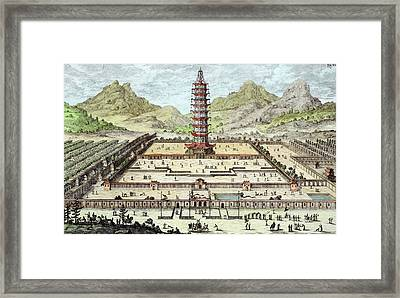 The Porcelain Tower Of Nanking, Plate Framed Print by Johann Bernhard Fischer von Erlach