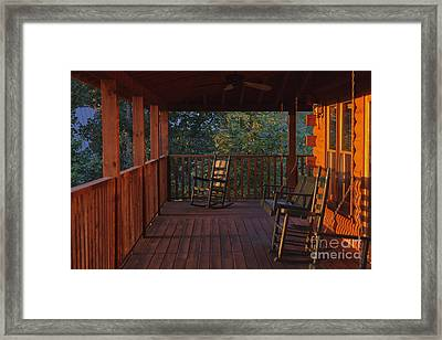 The Porch Beckons Framed Print by Kay Pickens