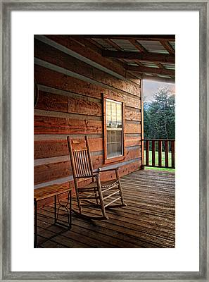 The Porch Framed Print by Victoria Winningham
