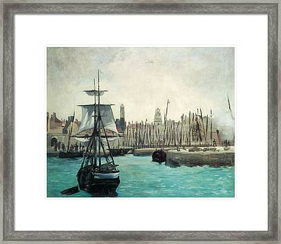 The Port At Calais Framed Print by Edouard Manet