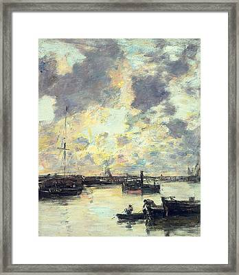 The Port Framed Print by Eugene Louis Boudin