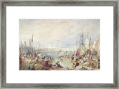 The Port Of London Framed Print by Joseph Mallord William Turner