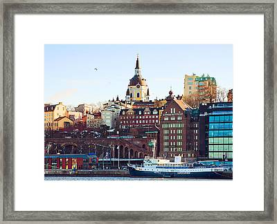The Port Framed Print by Viacheslav Savitskiy