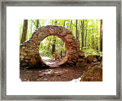 The Portal To Love Life Peace Framed Print