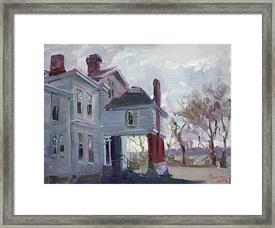 The Porter Mansion Framed Print