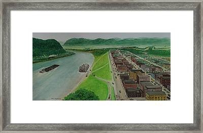 The Portsmouth Ohio Boneyfiddle District 1948 Framed Print by Frank Hunter