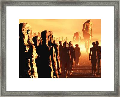 Framed Print featuring the digital art The Post Apocalyptic Gods by John Alexander