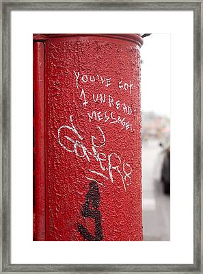 The Post Box With Messages Framed Print by Aston Peters