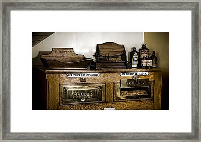 The Post Framed Print by Heather Applegate
