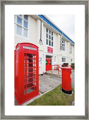 The Post Office In Port Stanley Framed Print