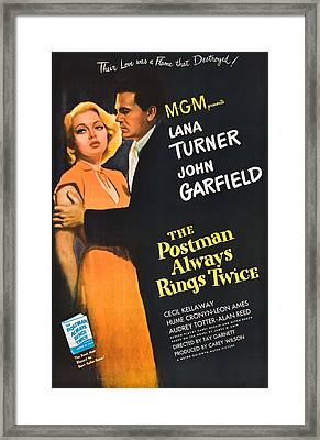The Postman Always Rings Twice - 1946 Framed Print