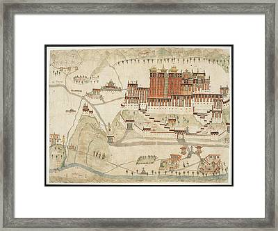 The Potala And Jo-khan Framed Print by British Library