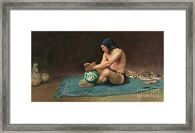 The Potter Framed Print by Pg Reproductions