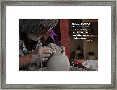 The Potter's Hand Framed Print by Natalie Ortiz