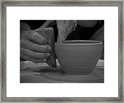 The Potter's Hands Framed Print by Lucinda Walter