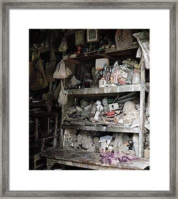 The Potter's Workshop Framed Print by Shaun Higson