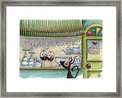 The Pottery Store Framed Print by Lucia Stewart