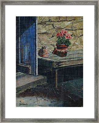 The Potting Bench Framed Print