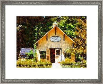 The Potting Shed Gift Shop Garden Framed Print by Janine Riley