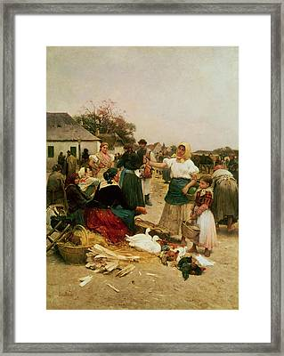 The Poultry Market Framed Print