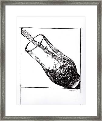 The Pour Framed Print by Andrea Cook