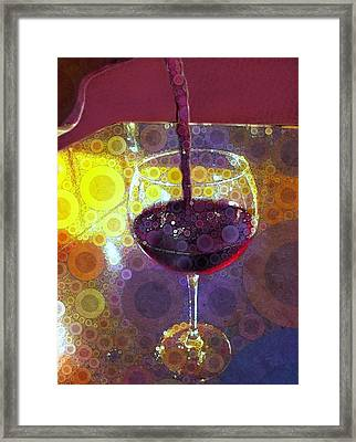 The Pour Framed Print by Cindy Edwards