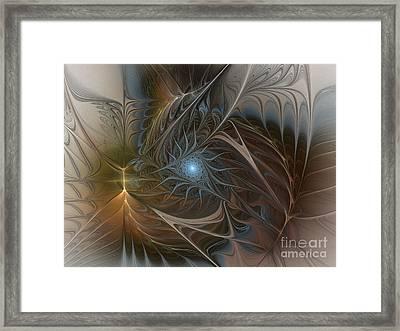 The Power Inside-abstract Fractal Art Framed Print